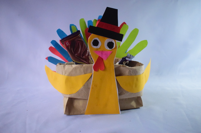 Thanksgiving Paper Bag Turkey Centerpiece Craft