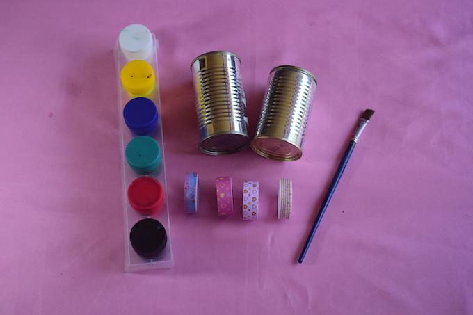 Tin Can Organizer Craft Materials