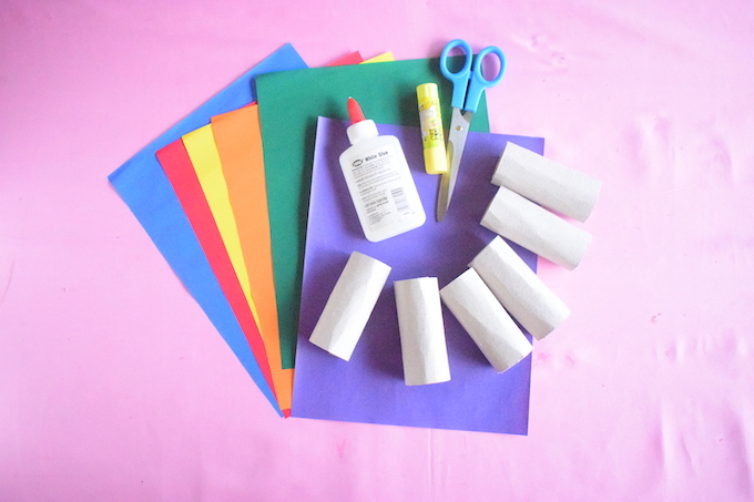 Toilet Roll Crayon Sorter Materials